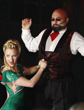 Paul Nathan and Ancilla Tilia co-host the Masque Ertotica midnight costume contest