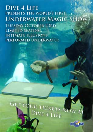 Inviation to underwater dive show